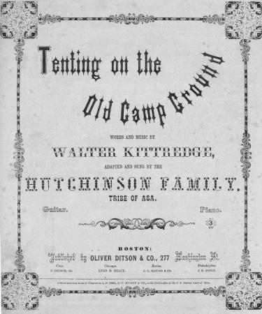 Tenting Tonight   Title Page